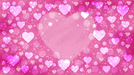 Texture of white hearts and circles on colorful background for Valentines Day
