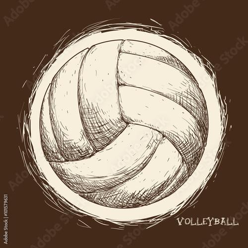 Fototapeta Volleyball icon design
