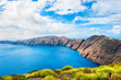 Panoramic view of Santorini island, Greece.