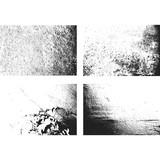grunge monochrome rough texture set.