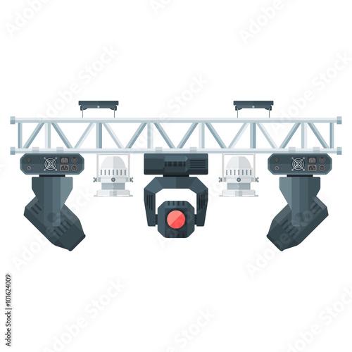 flat style stage metal truss concert lighting equipment.