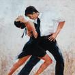 tango dancers digital painting, tango dancers - 101626857