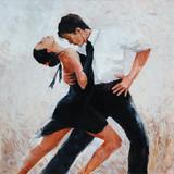 Tango tancerze cyfrowe malowanie, tango tancerze