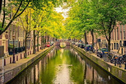 Plakát, Obraz Kanál v Amsterdamu