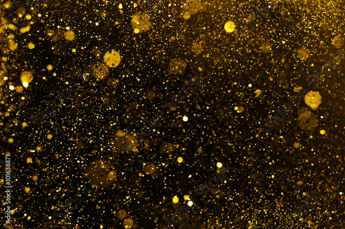Billede Golden Christmas Glitter Lights Defocused Background