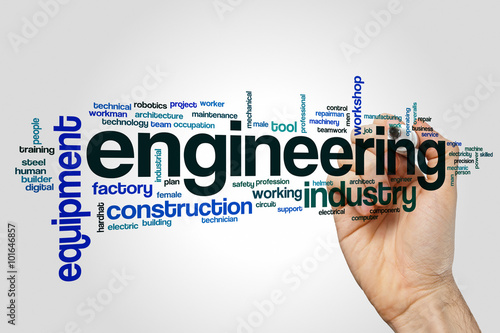 Engineering word cloud concept