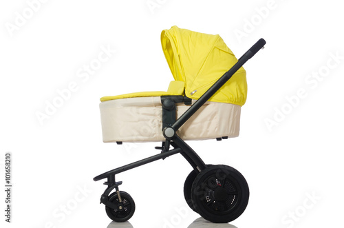 Poster Child pram isolated on the white background
