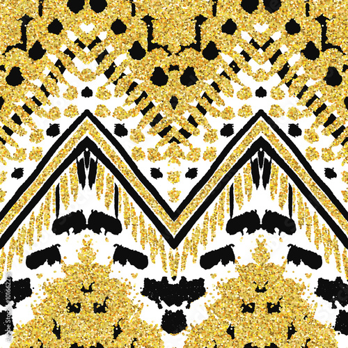Cotton fabric Hand drawn painted seamless pattern. Vector illustration