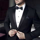 Fototapety Sexy man in tuxedo and bow tie