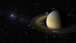 Planet Saturn in outer space. Elements of this image furnished by NASA