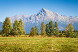 View on mountains of High Tatras and peak Krivan, Slovakia