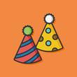 Obrazy na płótnie, fototapety, zdjęcia, fotoobrazy drukowane : birthday hat vector icon