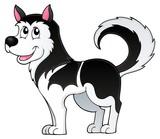 Husky dog theme image 1