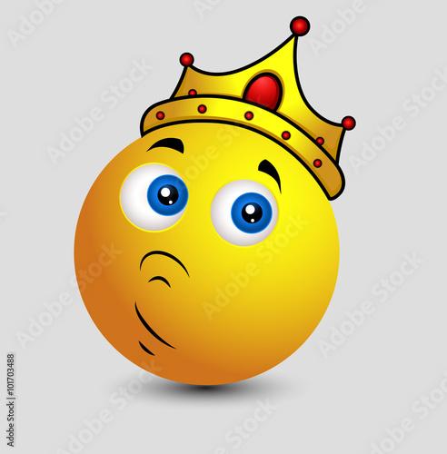 Gamesageddon Upset King Emoji Smiley Emoticon Expression
