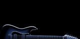 Bluesowa gitara elektryczna na czarno
