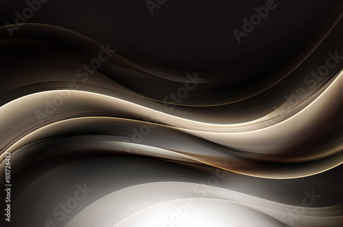 Exclusive Abstract Gold Wave Design Background