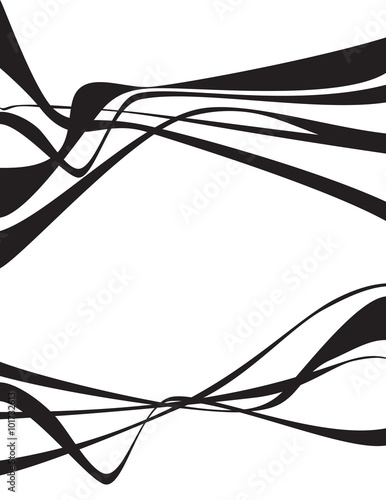 black and white wave stripe design set © am54
