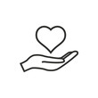 Heart in hand- vector icon. - 101744200