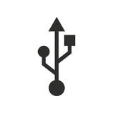 Usb - vector icon.