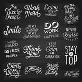 Hand drawn lettering slogans