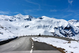 Motorbikers at Gross Glockner High Alpine Road. Austria.