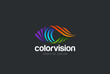 Eye Logo design vector. Media icon. Vision Logotype idea.