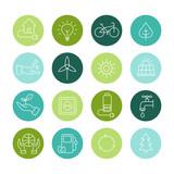 Ecology Icons, Organic Natural Symbols