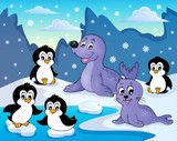 Seals and penguins theme image 2