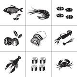 seafood icons - 101801213