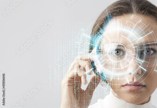 Foto Murales Futuristic smart glasses