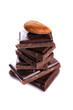 dark chocolate and almonds nut