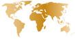 golden world map