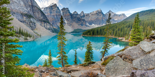 Foto op Canvas Canada Moraine lake panorama
