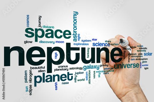 Neptune word cloud concept Poster