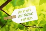 Fototapety Die Kraft der Natur nutzen.