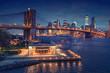 New York - Brooklyn Bridge panorama with Manhattan