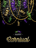 Happy carnival colorful party background