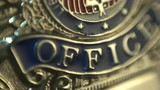 Macro Shot of Police Officer Badge.