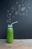 Fototapety Green smoothie diet concept