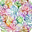 Abstract bright floral seamless pattern. Vector illustration, EPS 10