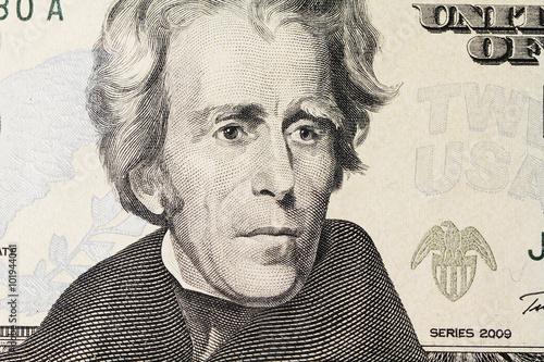 Jackson's portrait on dollar Poster