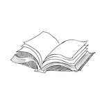 Fototapety vector sketch drawing book illustration