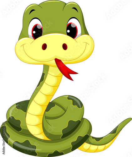 Cute baby snake cartoon
