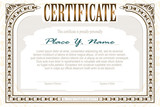 Vector template for the design of certificate, advertisements, i
