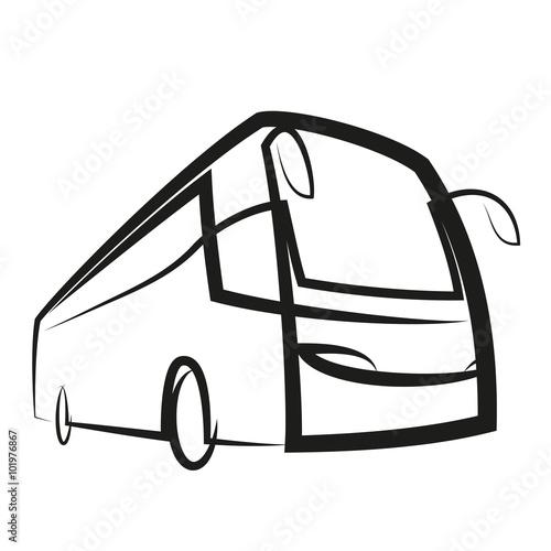 Poster autobus wektor