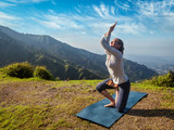 Woman doing Ashtanga Vinyasa yoga advanced asana