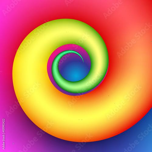 Colorful swirl shape © itlada