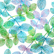 Seamless pattern with abstract leaf. Vector illustration, EPS 10