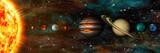 Układ Słoneczny, planety z rzędu, ultrawide