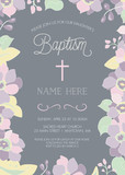 Baptism, Christening, First Holy Communion, or Confirmation Invitation Template